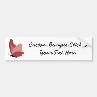Simple Butterfly - Red Car Bumper Sticker