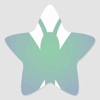 Simple Butterfly Star Sticker