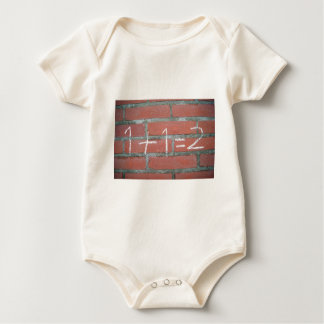 Simple calculation, passed school baby bodysuit