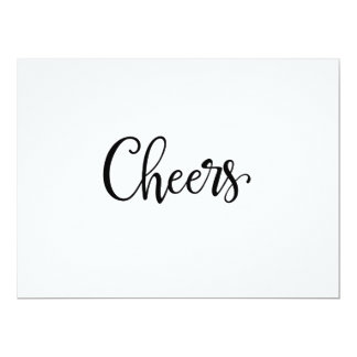 Simple Calligraphy   Cheers Wedding Bar Sign Card