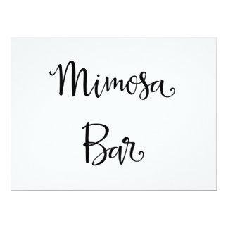 Simple Calligraphy | Mimosa Bar wedding Sign Card