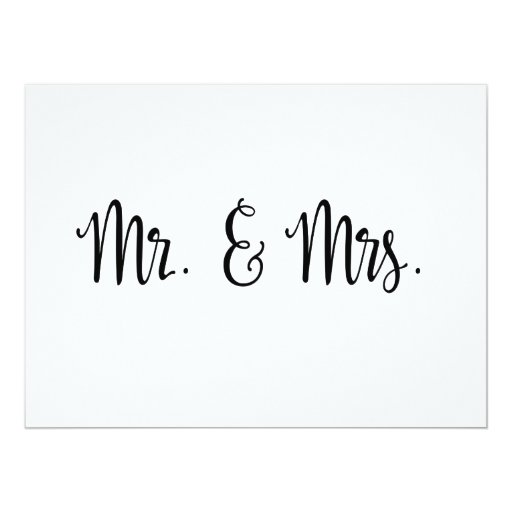 Simple calligraphy mr and mrs wedding sign card zazzle