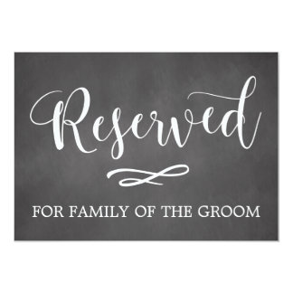 Simple Calligraphy Reserved Seating Wedding Sign Card