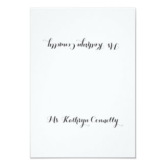 Simple Calligraphy Script Personalized Place Cards