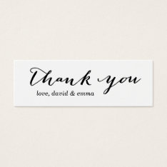 Simple Calligraphy Thank You Gift Tags at Zazzle