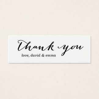 Simple Calligraphy Thank You Gift Tags