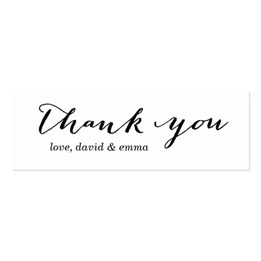 Simple calligraphy thank you gift tags double sided mini
