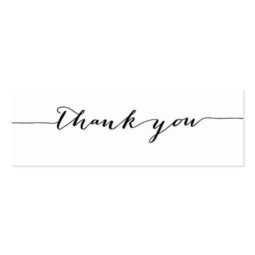 Simple calligraphy thank you gift tags mini business card