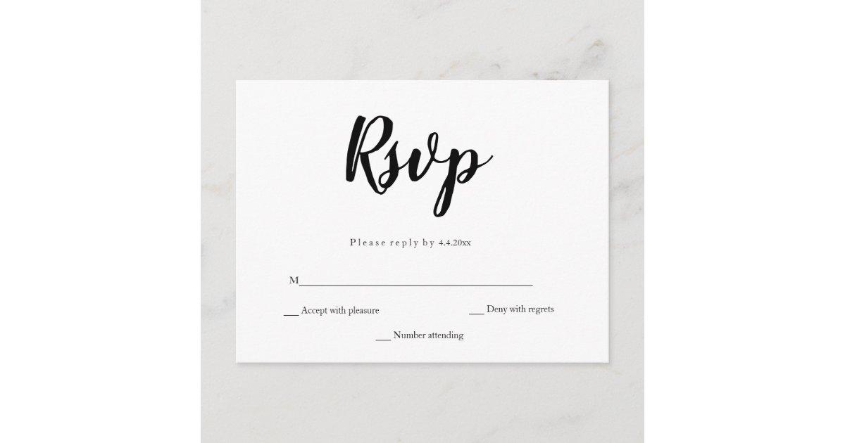 Simple Calligraphy Wedding Rsvp