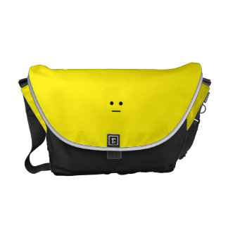 Simple Calm Yellow Face Courier Bags