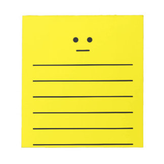 Simple Calm Yellow Face Notepad