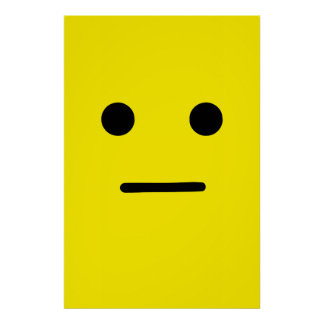 Simple Calm Yellow Face Poster