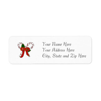 Simple Candy Cane Address Labels