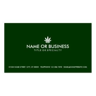 simple cannabis business card