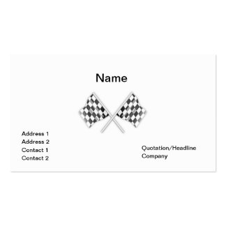simple card with checkered racing flags business card