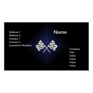 simple card with two checkered racing flags business card