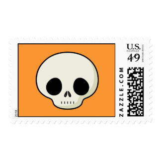 Simple Cartoon Skull Postage Stamps