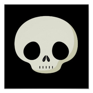 Simple Cartoon Skull Posters