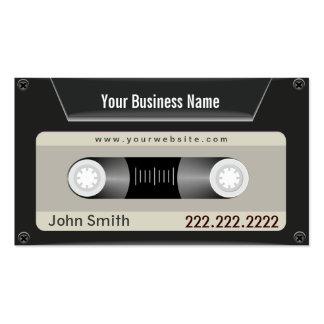 Simple Cassette Tape DJ Business Card
