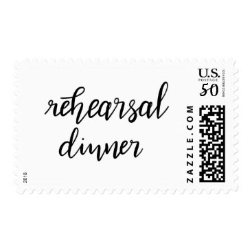 wedding_trends_now Simple Casual Handwritten Rehearsal Dinner Postage