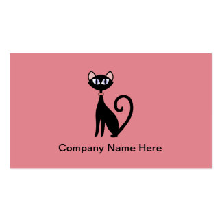 Simple Cat Business Cards