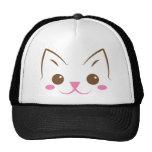Simple cat face so cute! mesh hats