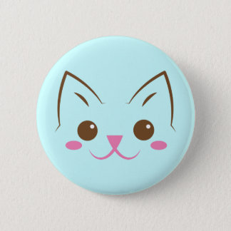 Simple cat face so cute! pinback button