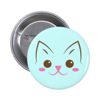 Simple cat face so cute! pinback button