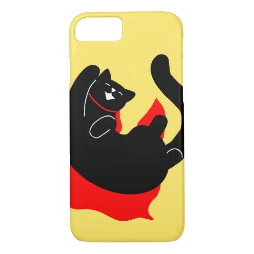 Simple Cat Happy Red Cape Superman iPhone 8/7 Case