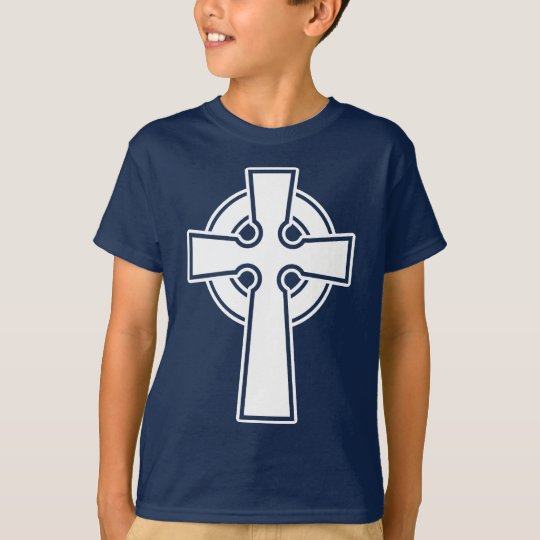 Simple Celtic Cross in white T-Shirt