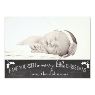 Simple Chalkboard Christmas Card