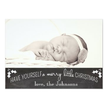 Christmas Themed Simple Chalkboard Christmas Card