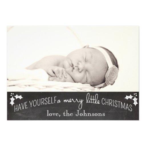 Simple Chalkboard Christmas Card