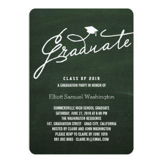 Simple Chalkboard Graduate Graduation Party Invite