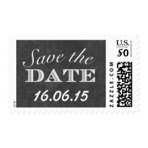 Simple Chalkboard Save the Date Wedding Stamps