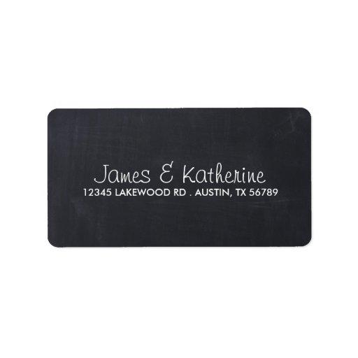 Simple Chalkboard Wedding Address Labels