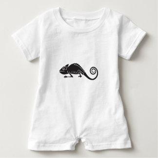 simple chameleon baby romper