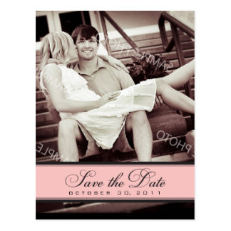 Simple Chandelier Save the Date Photo Postcard