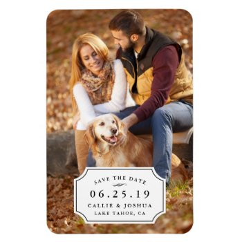 Simple Charm Save the Date Magnet