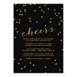 Simple Cheers Confetti Christmas Party Invitation Personalized Invites