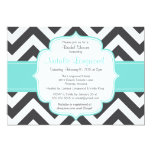 Simple chevron baby or bridal shower invitation