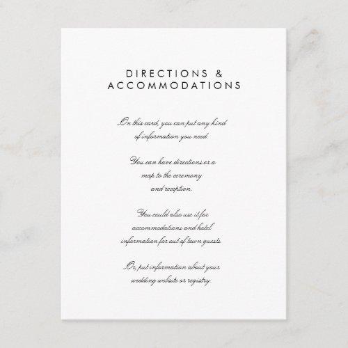 Simple Chic 425 x 55 Wedding Enclosure Card