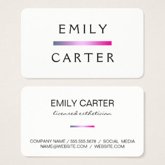 Simple Chic Bar Accent Business Card