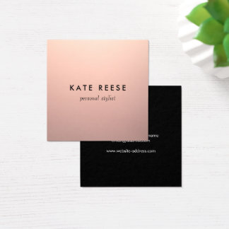 Simple Chic Copper Rose Gold Professional Stylist Square Business Card