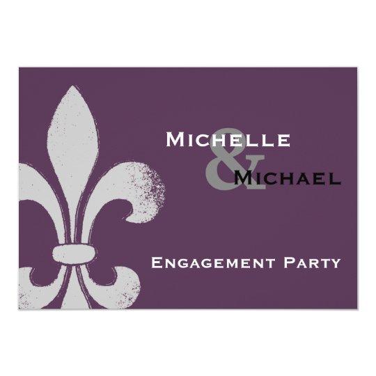 Simple Chic Fleur De Lis Party Invitations Zazzlecom