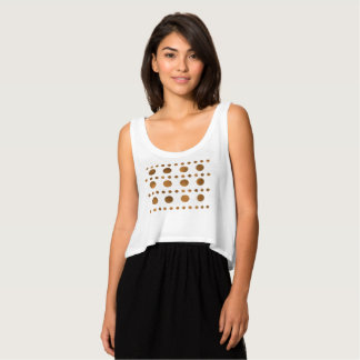 Simple Chic Gold  Dots Flowy Crop Tank Top