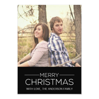 Simple Chic Merry Christmas Photo Flat Cards