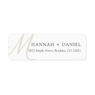 Simple Chic Modern Monogram Return Address Label