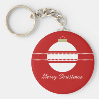 Simple Chic Ornament Christmas Keychain