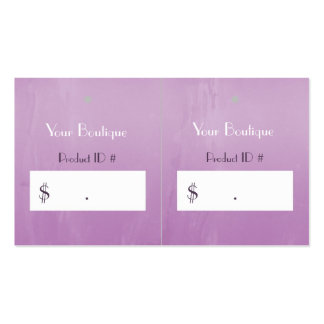 Simple Chic Pink Boutique Retail Sales Hang Tags Double-Sided Standard Business Cards (Pack Of 100)